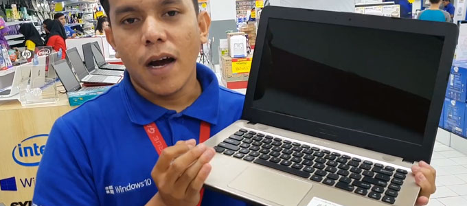 Penampakan interface laptop ASUS X441BA (Youtube: Mbah Sarno Nduwe Gawe)